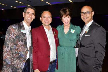 Panza Maurer attorney Jon Harris Maurer attends the Gala with State Representative Carlos Guillermo Smith, former Congresswoman Gwen Graham, and Jerrick Mediavilla.